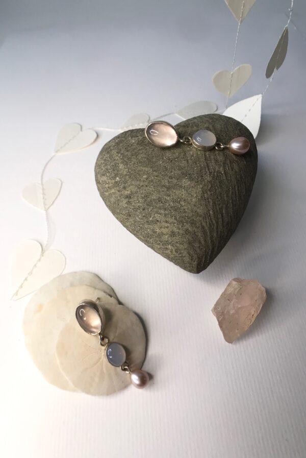 Valentine's Day Rose Quartz Earrings