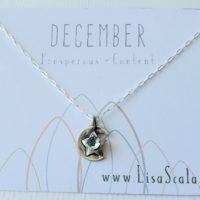 December Birthstone Pendant