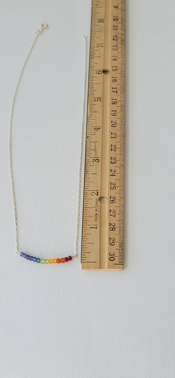 Healing Chakra Gemstone Rainbow Necklace