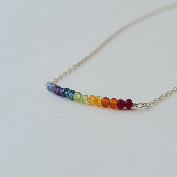 Healing Chakra Gemstone Rainbow Necklace