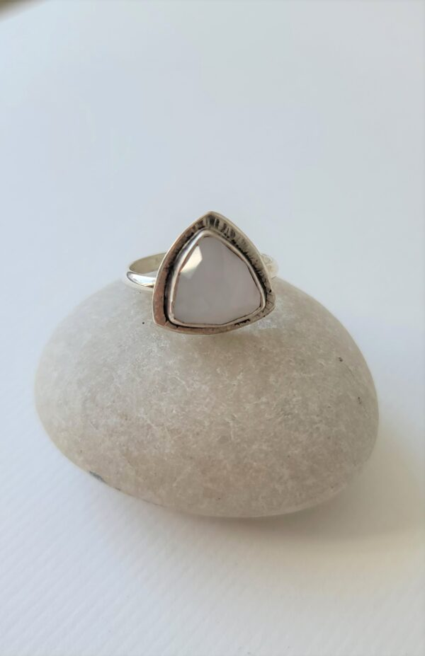 chalcedony divine feminine ring