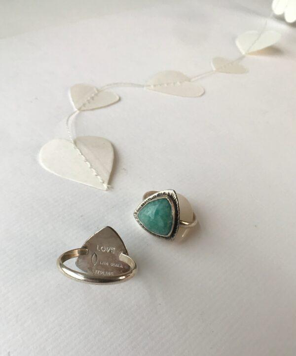 Divine Feminine Ring sterling silver Amazonite