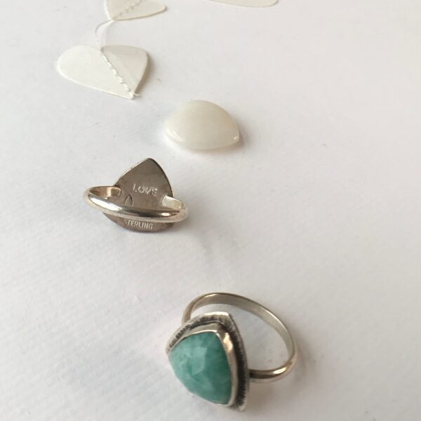 Divine Feminine Ring sterling silver Amazonite
