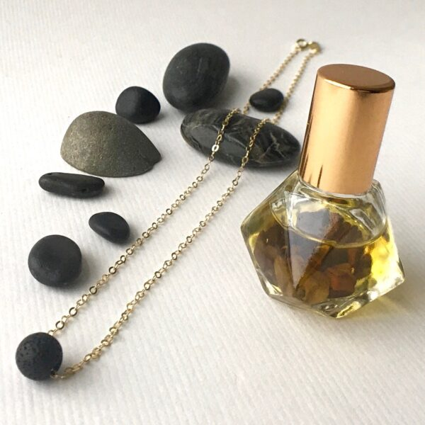 Essential oil bead necklace and Goddess Oil combo
