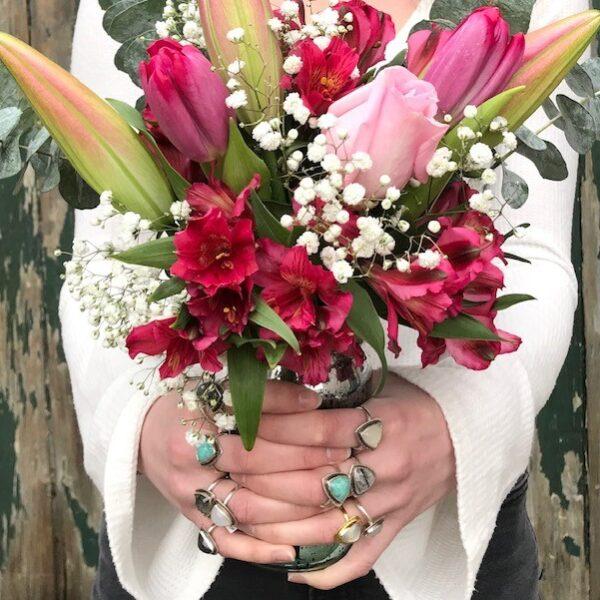 Valentines Day Flowers Devine Feminine Rings