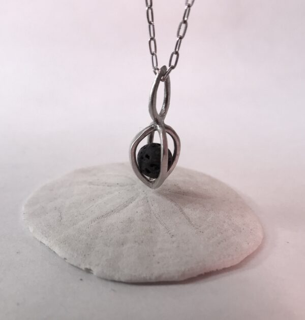 Essential Oil Lava Stone Pendant