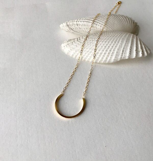 Open Circle 18kt sterling silver hoop pendant