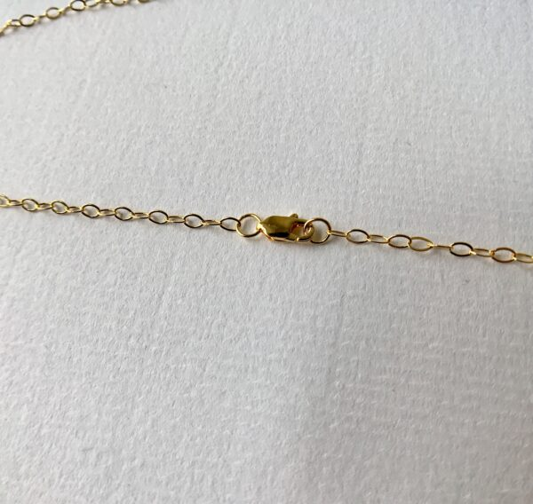 18kt gold lobster clasp