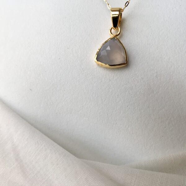 Divine Feminine Necklace 18kt Gold over Sterling