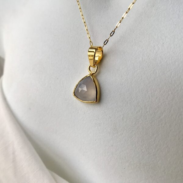Divine Feminine Necklace 18kt Gold over Sterling