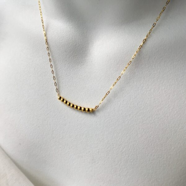 Ball Bar Necklace 18kt Gold over Sterling