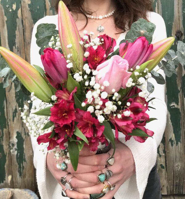 Valentines Day Flowers and Jewelry