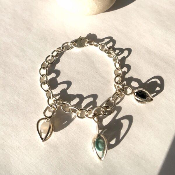 Gem Pod Sterling Silver Bracelet