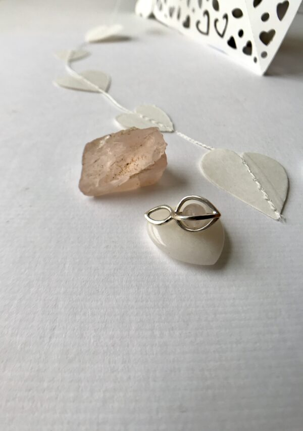 rose quartz Gem Pod Necklace