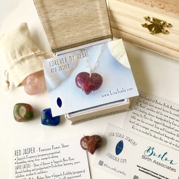 Red Jasper Forever My Heart Necklace Kit