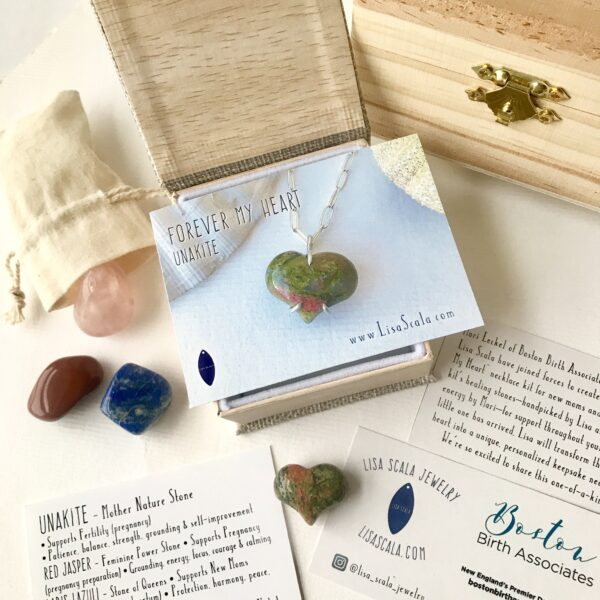 Unakite Forever My Heart Necklace Kit
